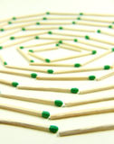 Matches labyrinth Stock Images