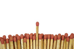 Matches  leadership Royalty Free Stock Photo