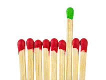 Matches - leadership concept Royalty Free Stock Photos
