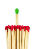 Matches - leadership concept Stock Image