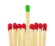 Matches - leadership concept Stock Images