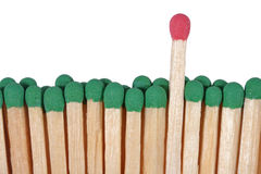 Matches - leadership concept on a white Stock Photography