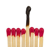 Matches - leadership or inspiration concept Stock Image