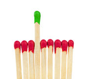Matches - leadership or inspiration concept Stock Images