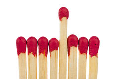 Matches - leadership or inspiration concept Royalty Free Stock Images