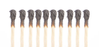 Matches in the line Royalty Free Stock Image