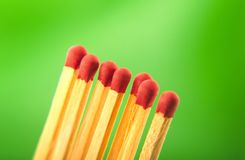 Matches macro Stock Image