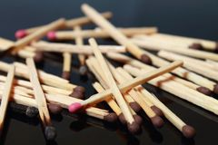 Matches macro Royalty Free Stock Photography