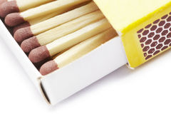 Matches in match box Royalty Free Stock Photos