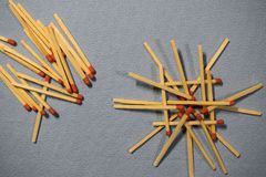 matches and match royalty free stock images