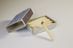 Matches. Matchbook very necessary thing for the fireplace or campfire Stock Image