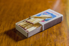 Matches. Matchbook very necessary thing for the fireplace or campfire Royalty Free Stock Images