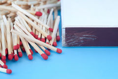 Matches and a matchbox Stock Image