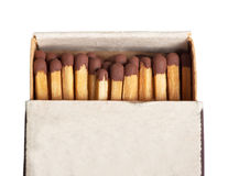 Matches in a matchbox Stock Images