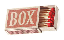 Matches in a matchbox. Stock Photography