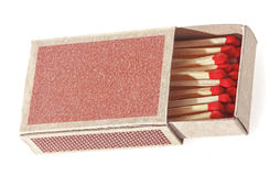 Matches in a matchbox. Royalty Free Stock Images