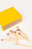 Matches and matchbox still life Royalty Free Stock Images