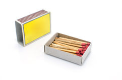Matches in a matchbox Stock Photography