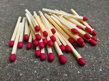 Matches the Pile Royalty Free Stock Image