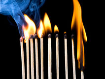 Matches reaction Royalty Free Stock Images