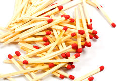 Matches with red heads Royalty Free Stock Image