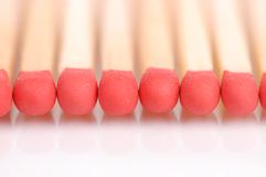 Matches with the reflection Stock Photography