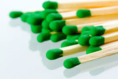 Matches with reflection Royalty Free Stock Photos