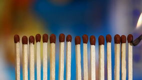 Matches row Royalty Free Stock Photos
