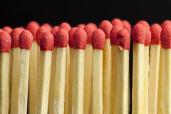 Matches  in rows Royalty Free Stock Photo