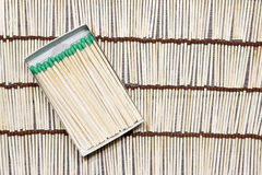Matches rows folded. Stock Photo