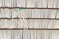 Matches rows folded. Stock Image