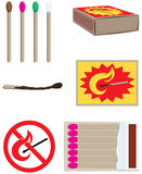 Matches set. Matches collection and design elements Stock Photos
