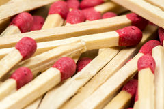 Matches. Some matches on wooden background stock photo