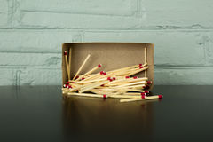 Matches spilling out of box. Royalty Free Stock Photos