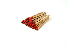 Matches stack isolated on white background Stock Photo