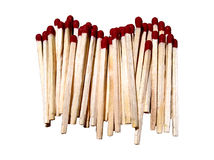 Matches Stacked Isolated Stock Image