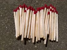 Matches Stacked Royalty Free Stock Images