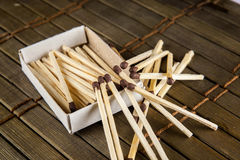 Matches on the table Stock Images