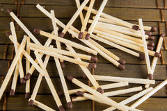 Matches on the table Royalty Free Stock Photography