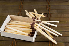 Matches on the table Stock Photos
