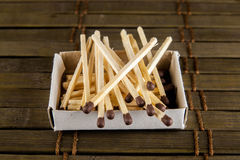 Matches on the table Royalty Free Stock Images