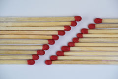 Matches in two rows Royalty Free Stock Photos
