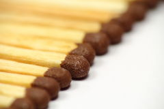 Matches used to burn wood and coal. Royalty Free Stock Photos