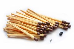 Matches. This is a view of matches isolated on white background stock photo