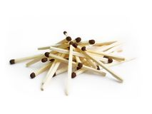 Matches on white Royalty Free Stock Photo
