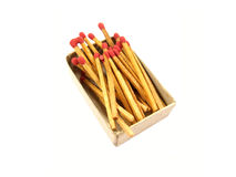 Matches on a white backgroun. Matches isolated on a white backgroun Royalty Free Stock Photography