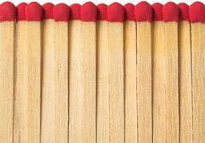 Matches on a white background. 15 matches with a red light gray on a white background Royalty Free Stock Images