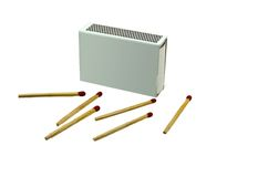 Matches. On white background Royalty Free Stock Photography