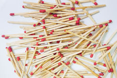Matches on white background Stock Photography