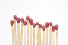 Matches on white background Royalty Free Stock Images